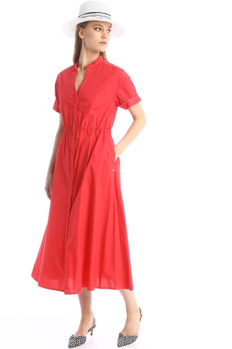 Poplin midi dress Intrend