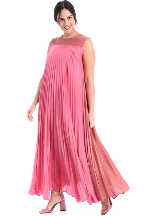 Long pleated satin dress  Intrend