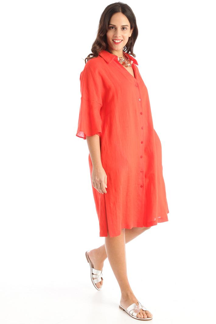 Pure linen chemisier dress  Intrend