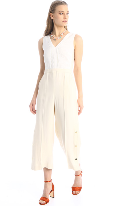 Linen and crepe jumpsuit Intrend