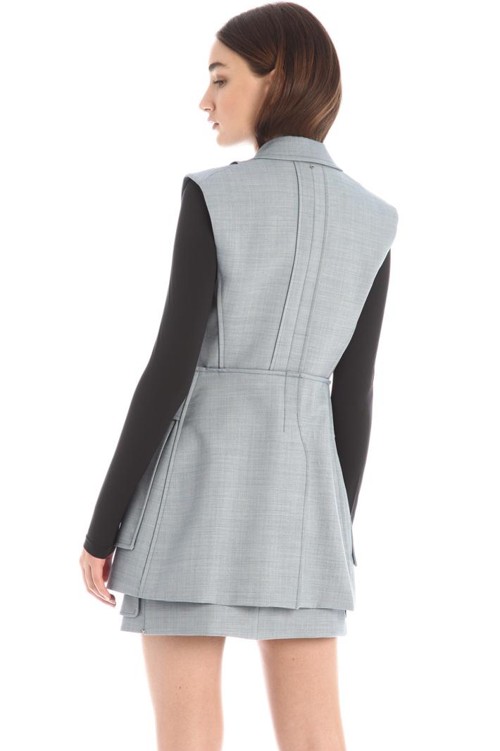 Wool canvas vest Intrend
