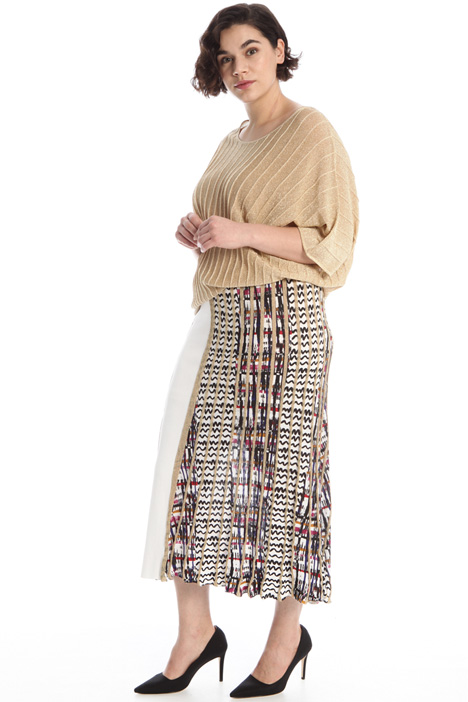 Printed lurex knit skirt Intrend