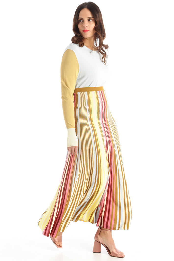 Yarn dyed knit skirt Intrend
