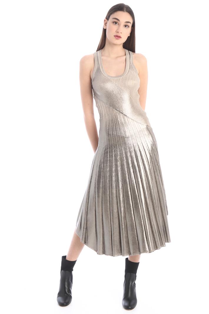 Laminated rib dress Intrend