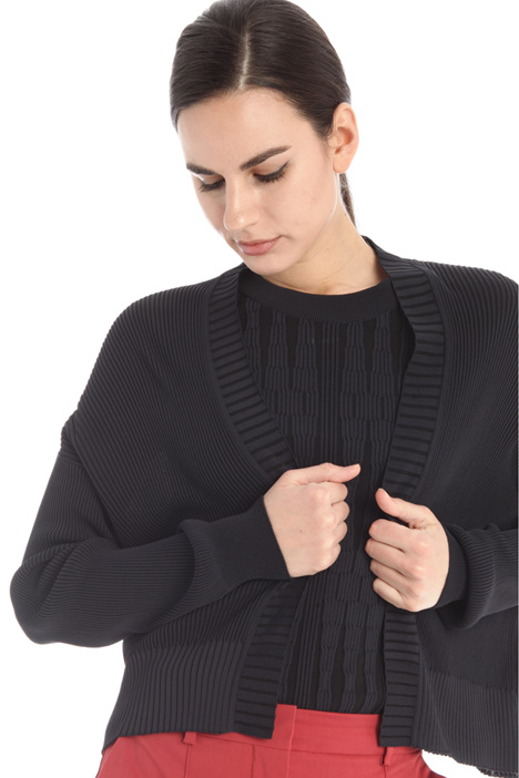 Ribbed viscose cardigan Intrend