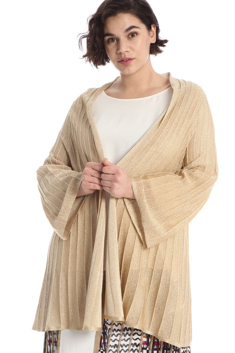 Pleated lurex cardigan Intrend