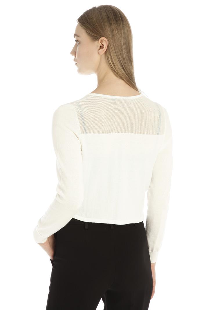 Short lurex cotton cardigan Intrend