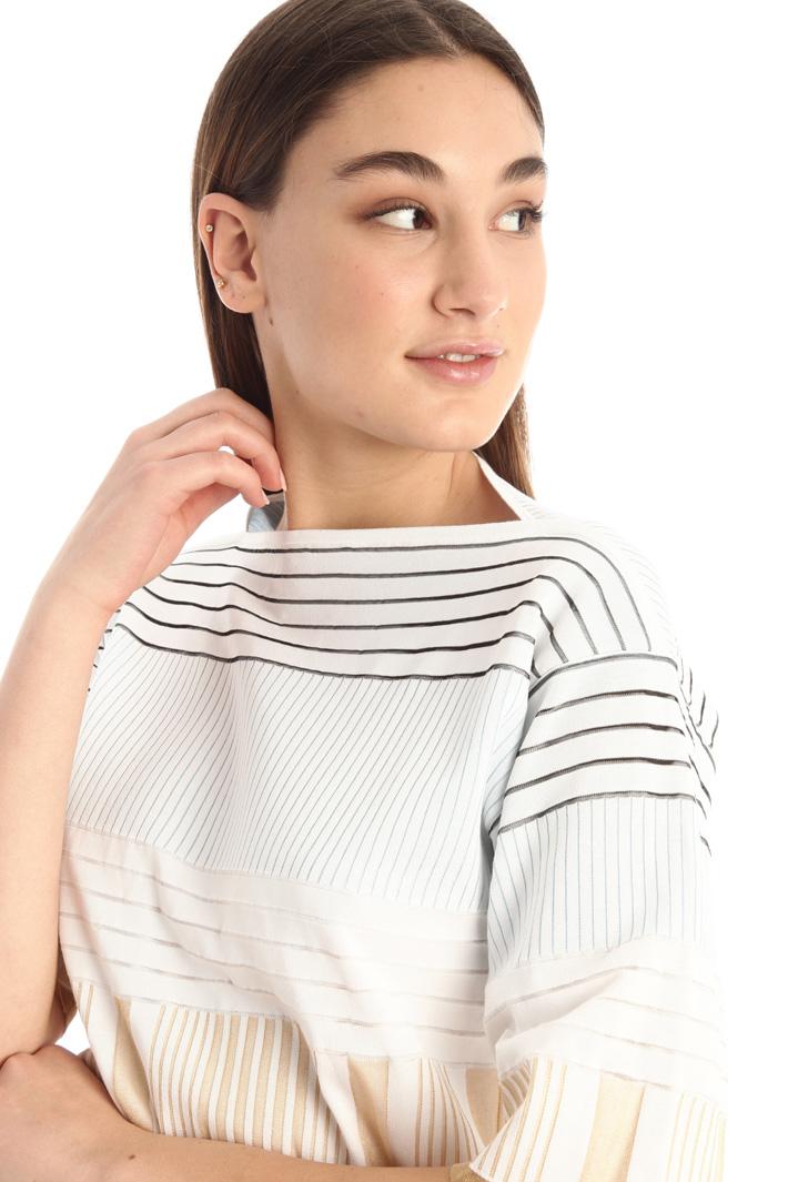 Rib knit T-shirt Intrend