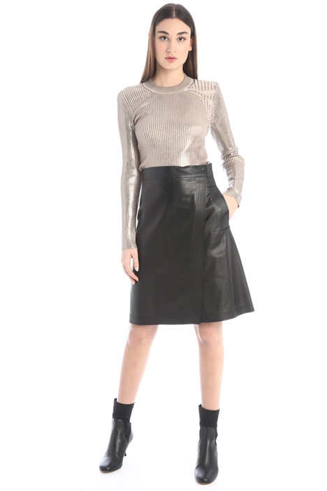 Laminated ribbed sweater Intrend