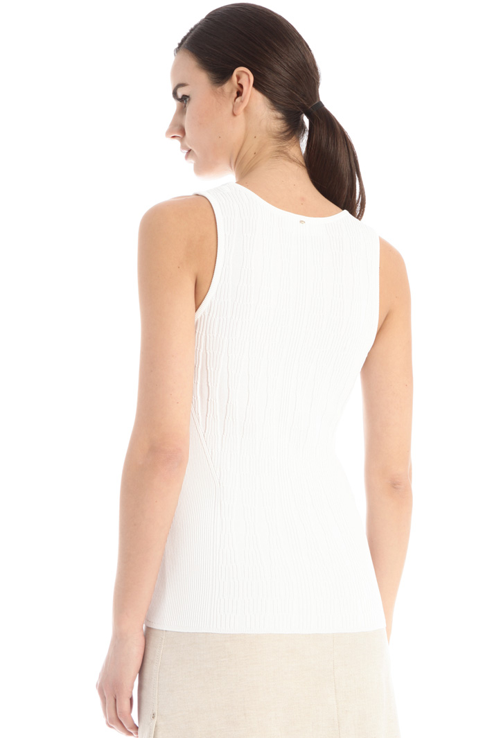 Ribbed top Intrend
