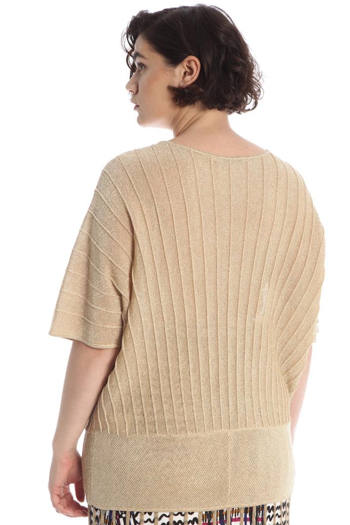 Pleated lurex sweater Intrend