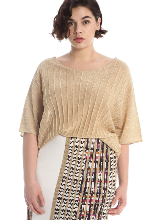 Pleated lurex sweater Intrend