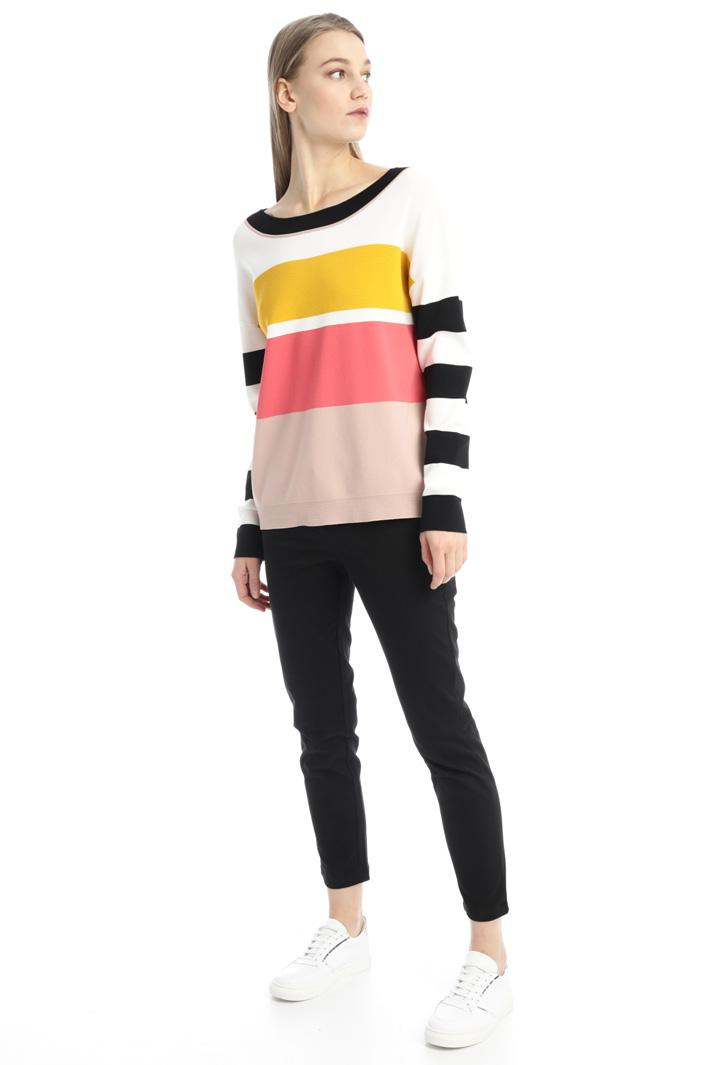 Soft colour block sweater Intrend