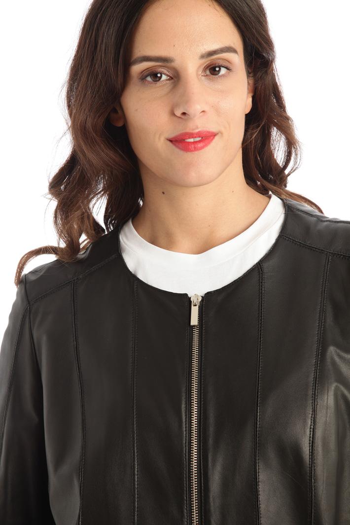 Leather biker jacket Intrend