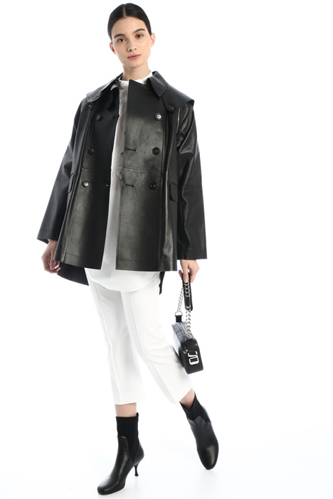 Leather modular jacket Intrend