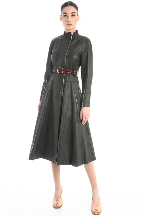 Leather overcoat Intrend