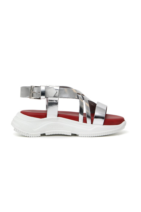 Metallic effect sandals Intrend