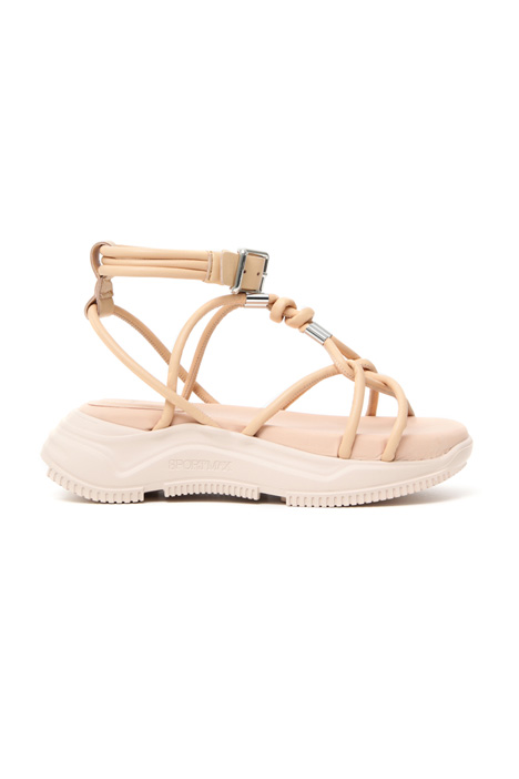Laced leather sandals Intrend