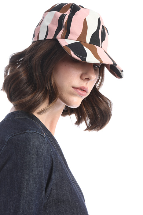 Printed cotton hat Intrend