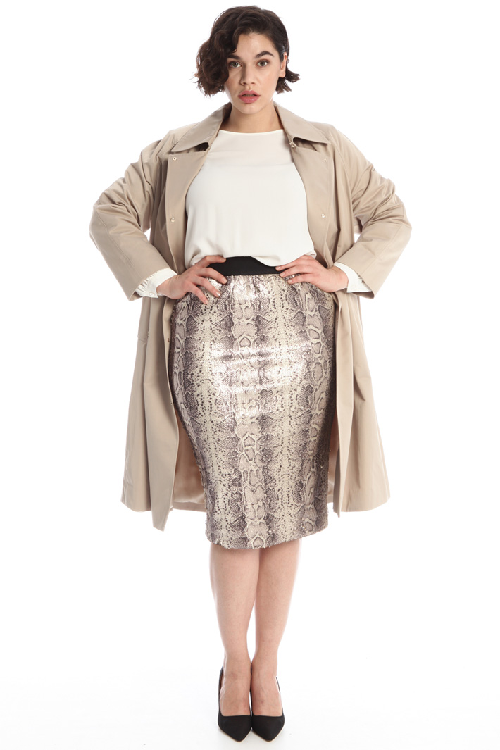 Sequinned pencil skirt Intrend