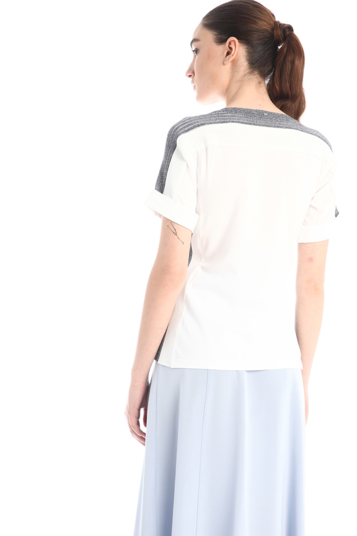 T-shirt with knit inserts Intrend