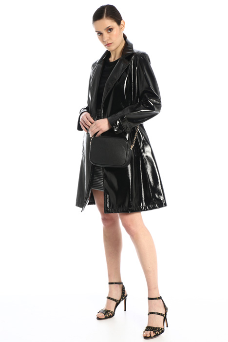 Patent leather trench coat Intrend