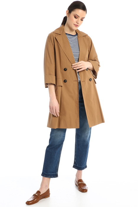 Cotton satin trench Intrend
