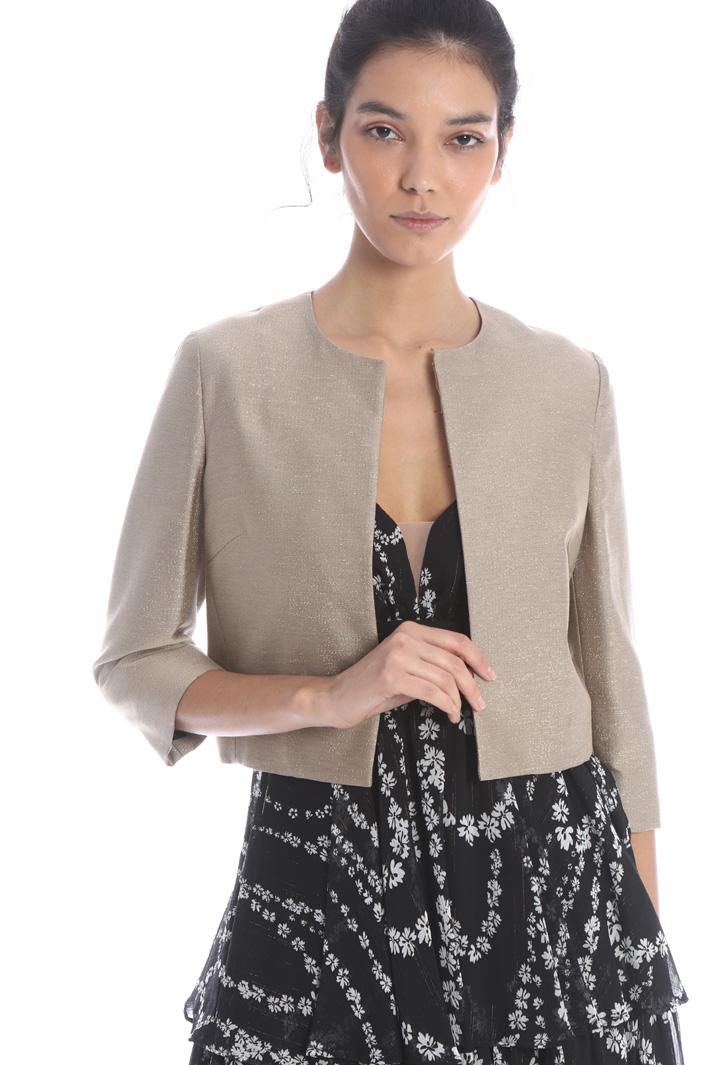 Lurex woven jacket Intrend