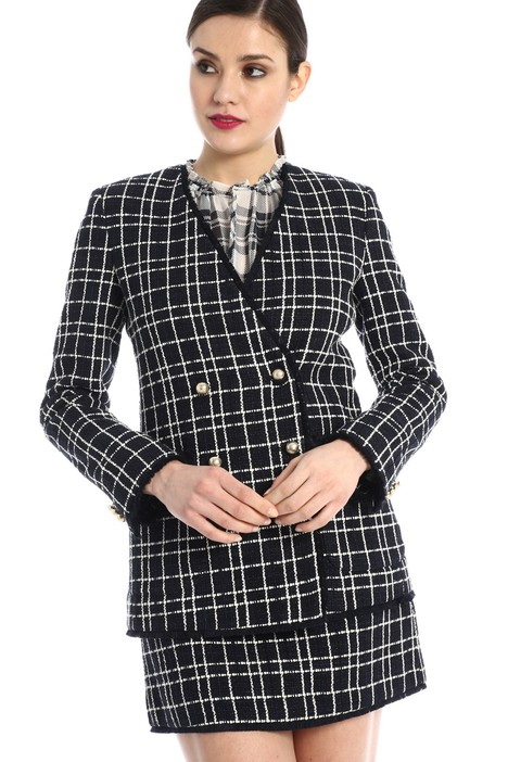 Double-breasted tweed jacket Intrend