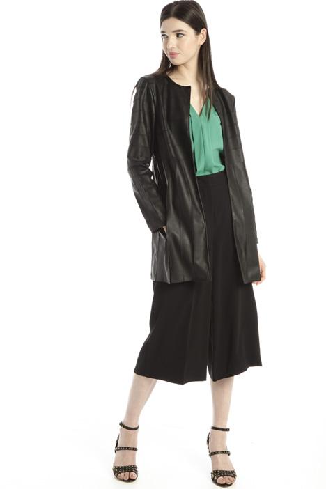 Faux leather and tulle jacket Intrend