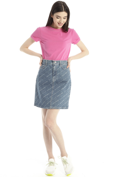 Printed denim skirt Intrend