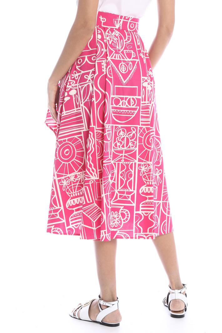 Printed poplin skirt Intrend