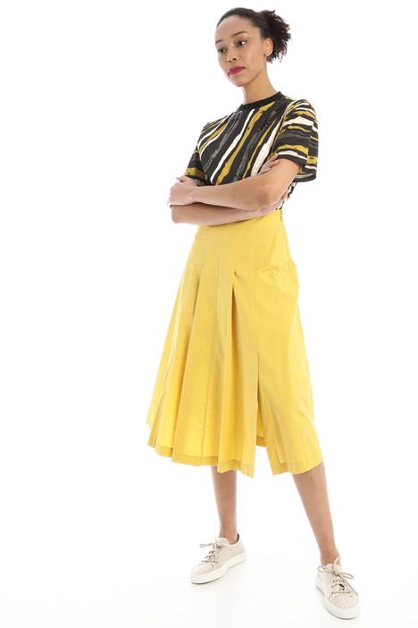 Flared cotton poplin skirt Intrend