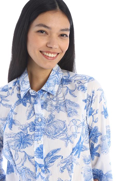 Patterned muslin shirt Intrend