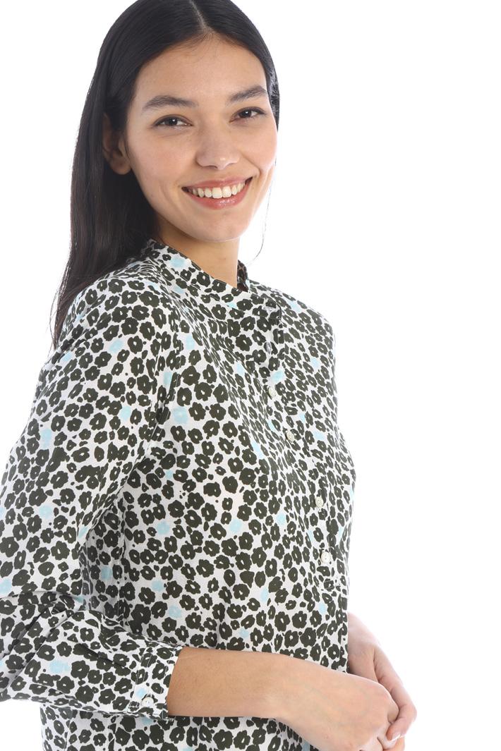 Patterned poplin blouse Intrend