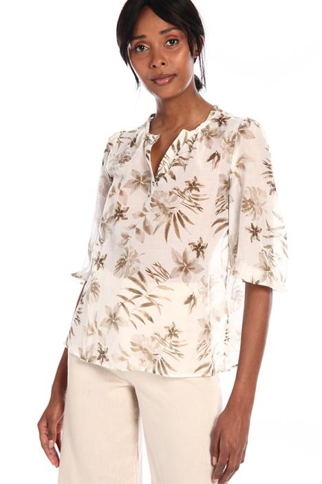 Printed muslin blouse Intrend