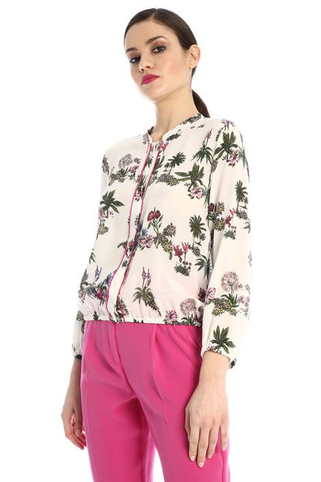 Printed crepe blouse Intrend