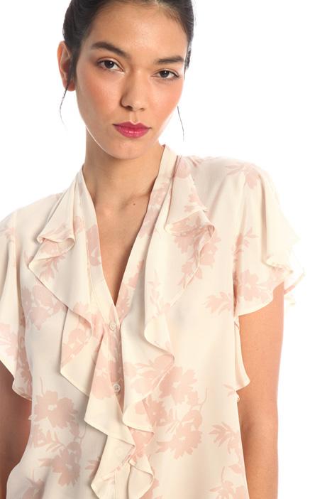 Printed silk crepe top Intrend