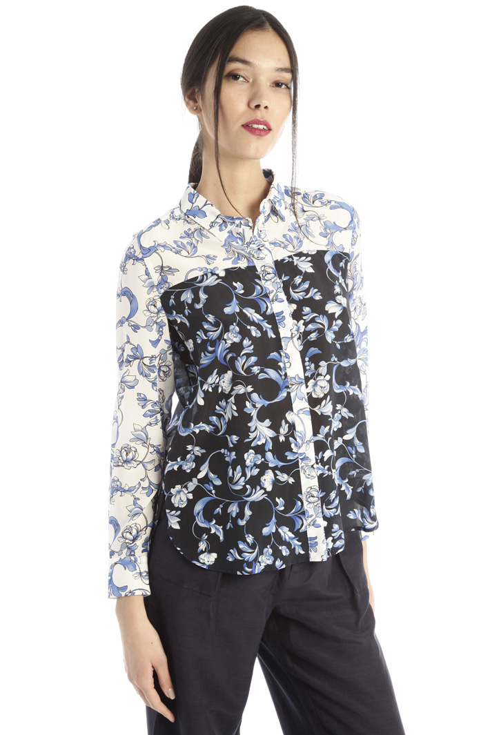 Silk crepe de chine shirt Intrend