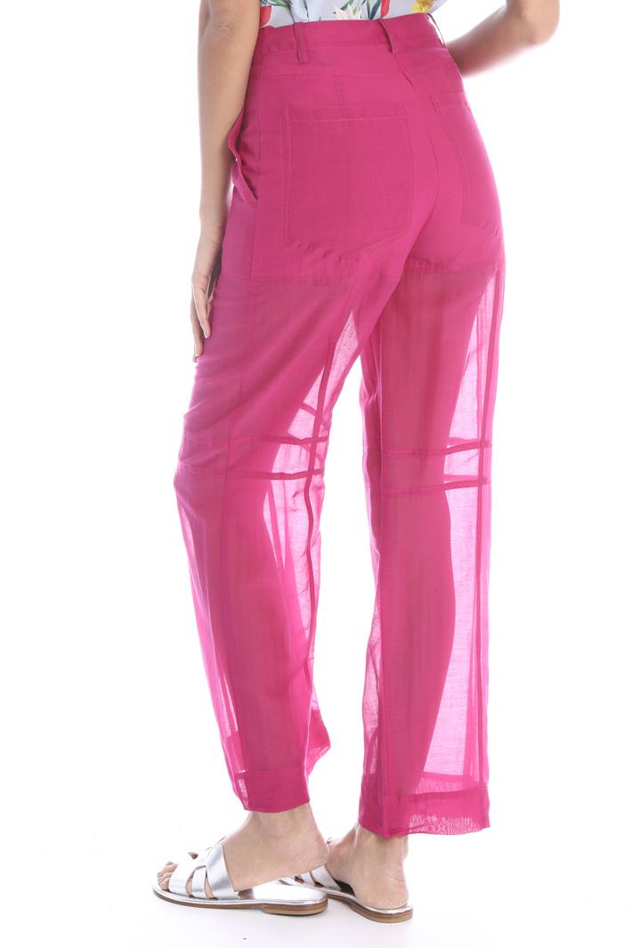 Straight leg muslin trousers Intrend