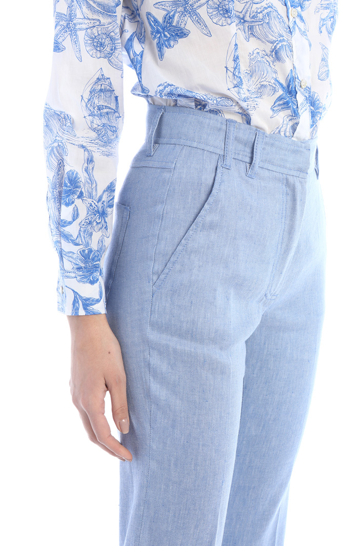 Flare inen trousers Intrend