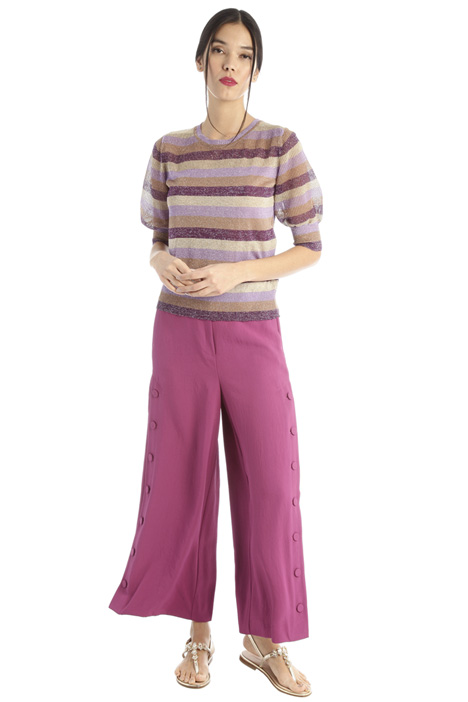 Flared trousers with slits Intrend