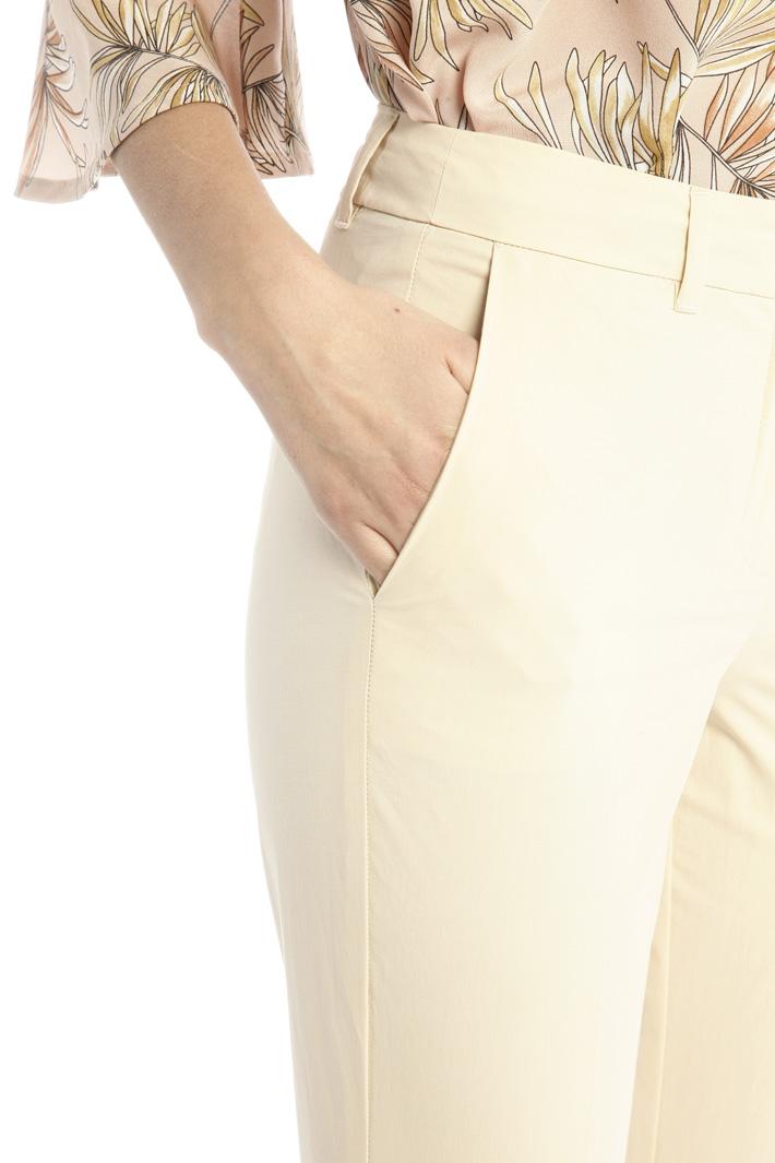 Skinny trousers in poplin Intrend