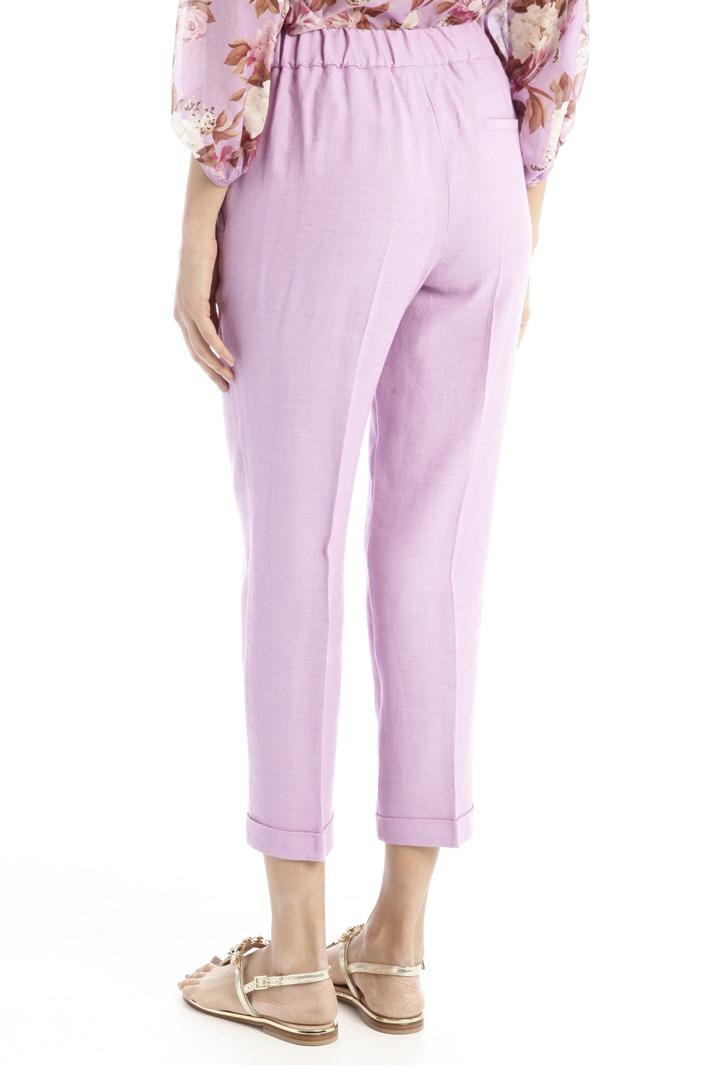 Straight leg linen trousers Intrend