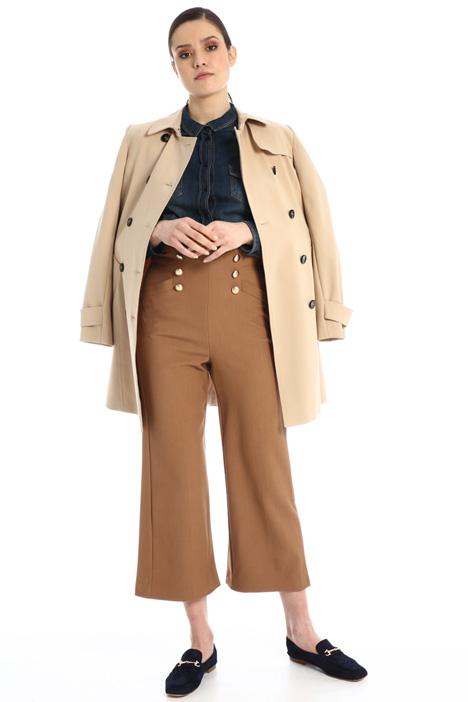 Pantaloni cropped in tela Intrend