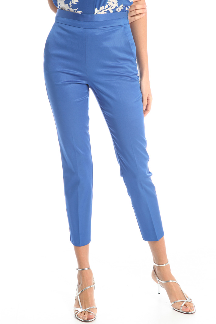 Fitted faille trousers Intrend