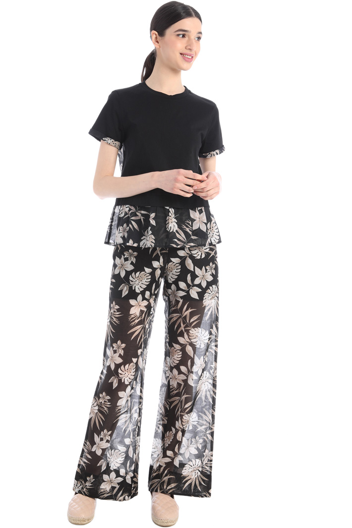 Flared muslin trousers Intrend