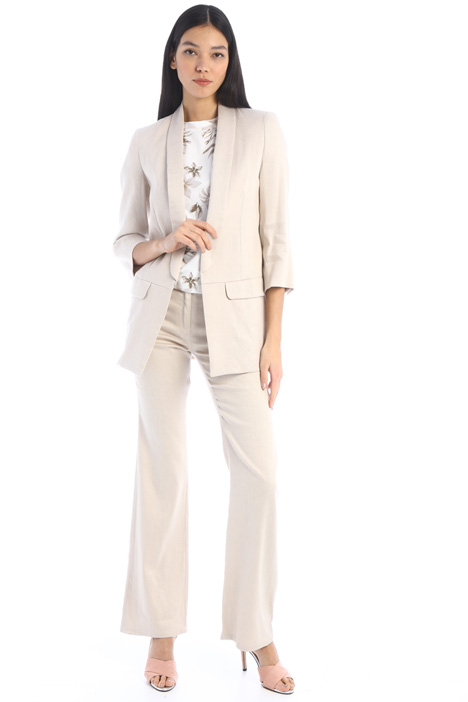 Flared linen trousers Intrend