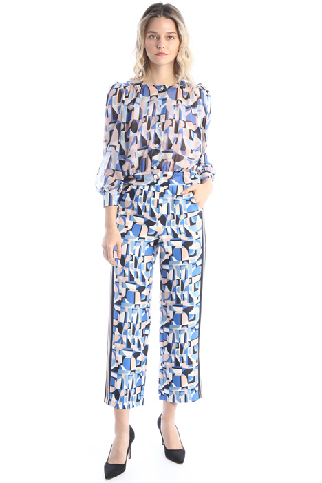 Straight cut satin trousers Intrend
