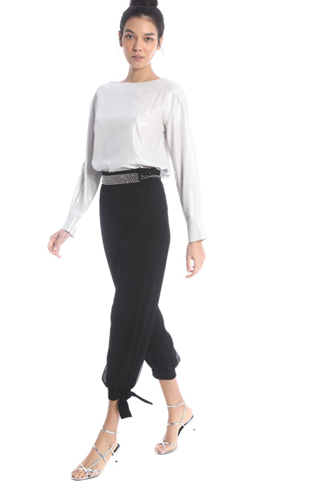 Satin trousers with bow Intrend